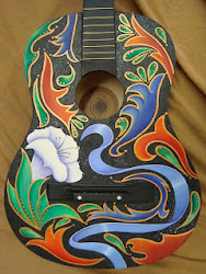 Painted Guitars by Sharon Teal Coray