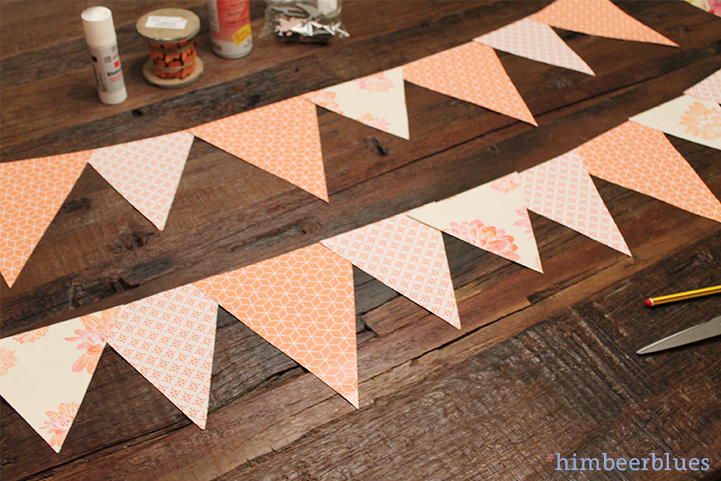 Himbeerblues: Diy: Fast & Easy Babyparty Deko-Girlanden