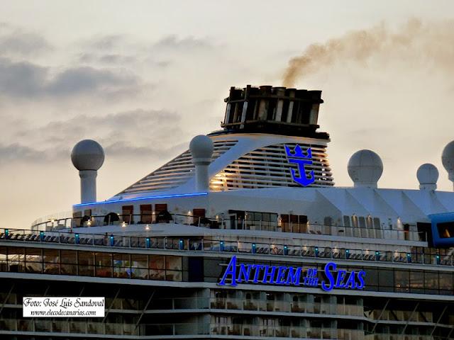 crucero mas grande del mundo Anthem of the Seas  Las palmas de Gran Canaria