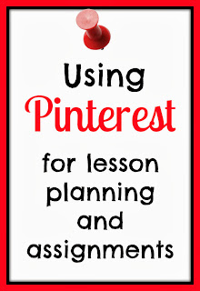 Using Pinterest for lesson planning and assignments