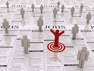 Illustration of targeting jobs in the classified section of the paper.