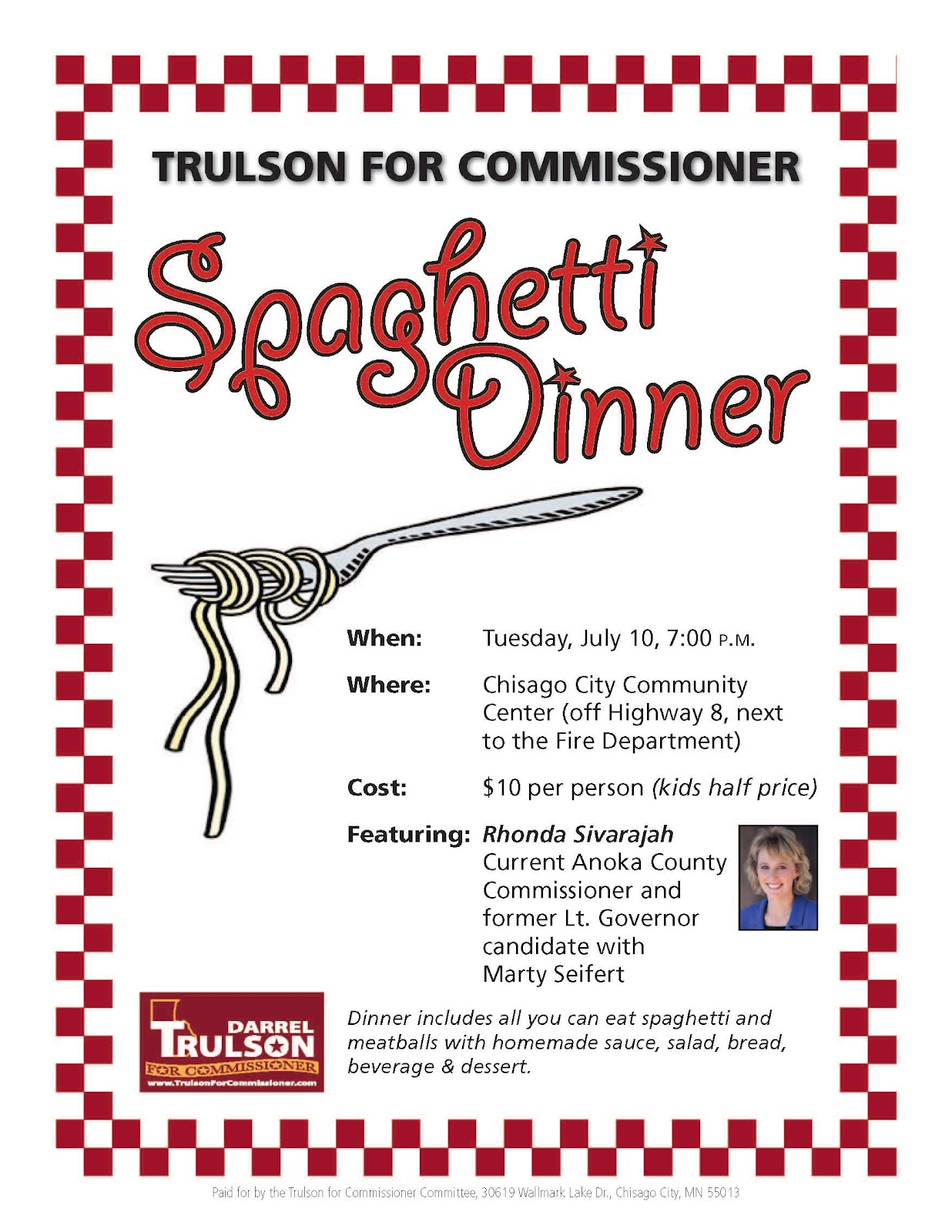 spaghetti dinner fundraiser template