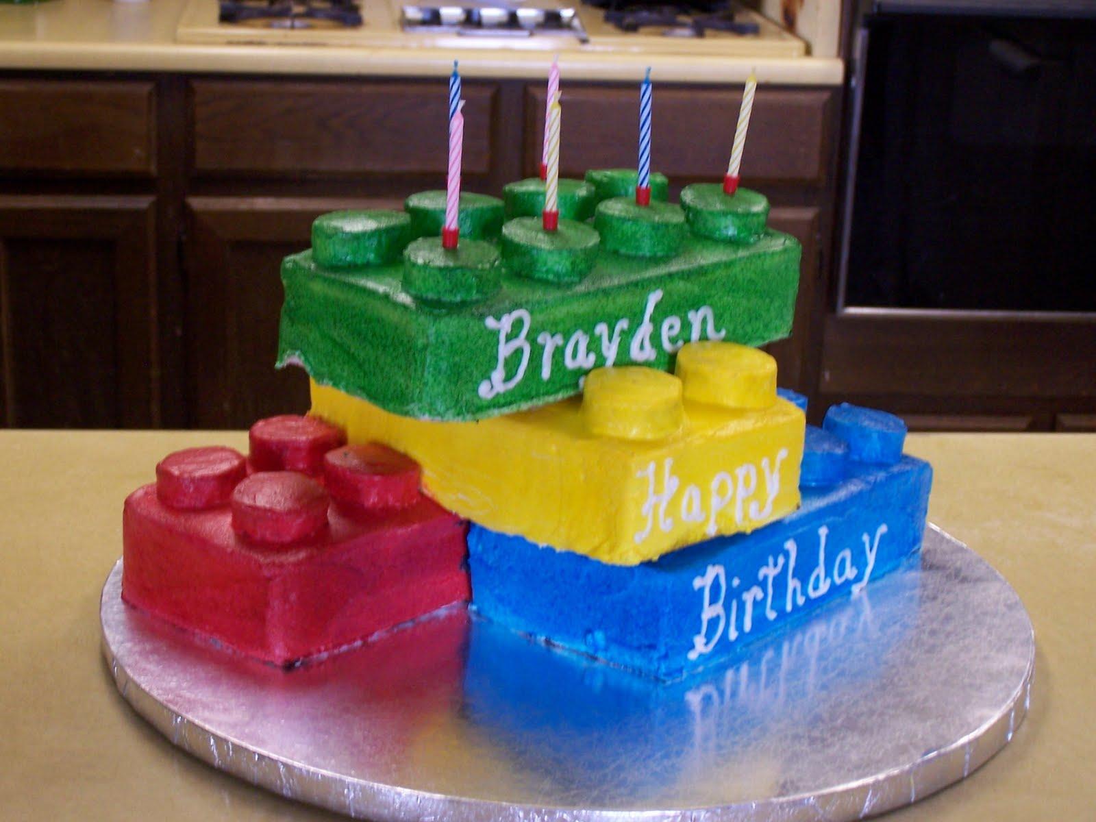 Birthday Cake Ideas Lego : Cakes By Sue: Lego Birthday Cake
