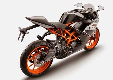 Tampilan motor KTM