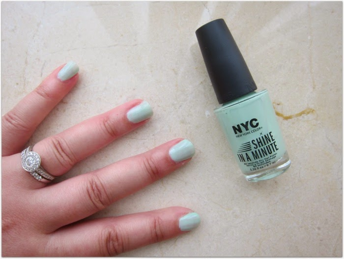 NYC Shine In A Minute nail polish mint