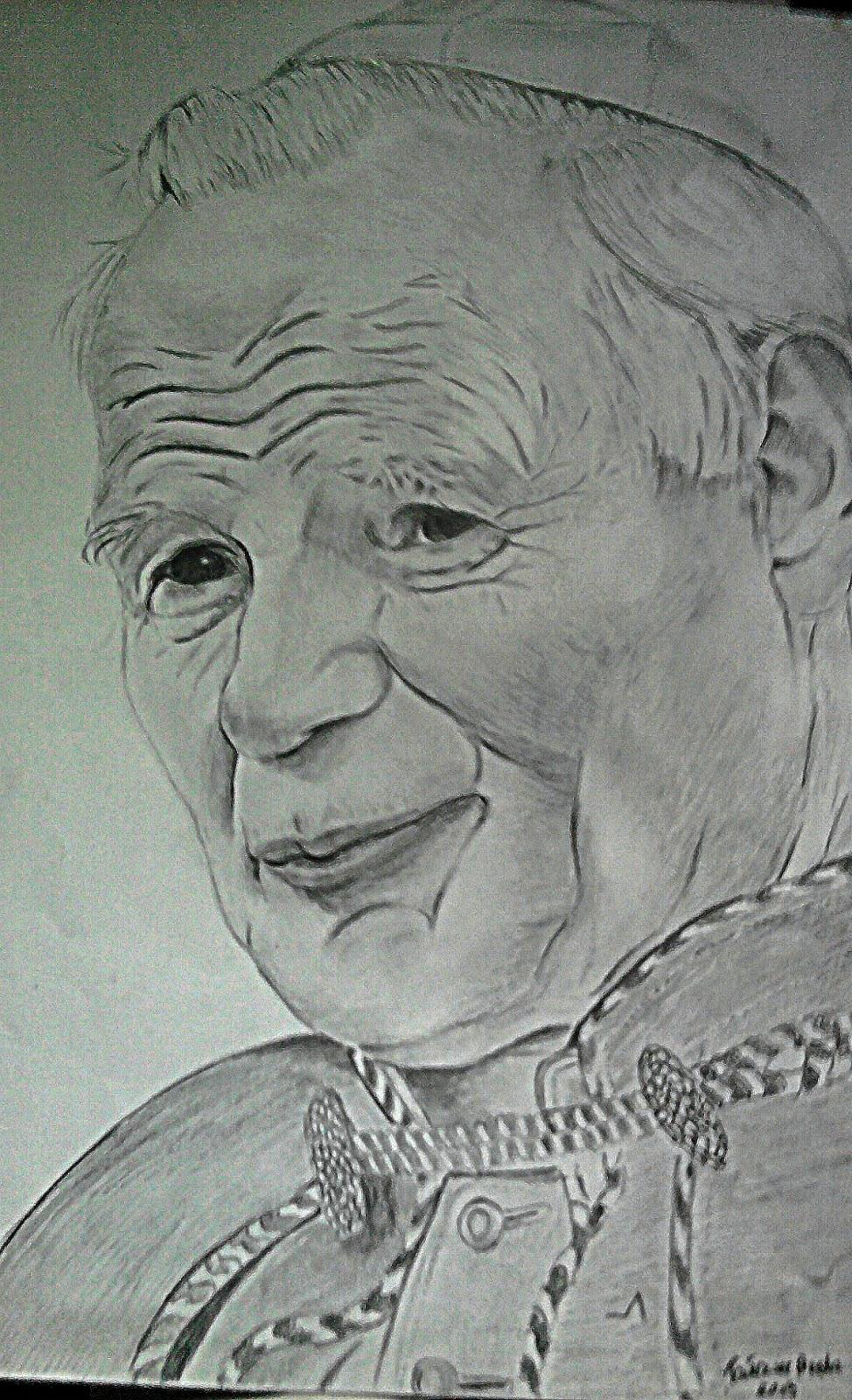 rysunek Jan Paweł II