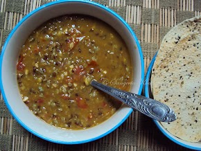 red lentil and red rice khichri ...a light cooling lunch for summers..