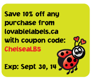 10% off you Lovable Labels Purchase!