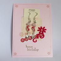 Swirls Pink Earrings by MagsBeadsCreation