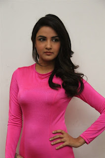 Jasmin Bhasin in a pink tight fit Gown Spicy Pics