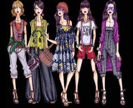 El dise o de modas for Dibujos de disenos de moda