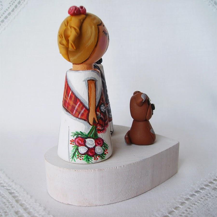 Personalizowane na zamówienie ręcznie malowane zdobione figurki ślubne figurka ozdoba na tort weselny ślubny tortu weselnego dekoracja tortu panna młoda pan młody nowożeńcy romantyczne eleganckie strój ludowy folklor klasyczne tradycyjne na wesoło humorystyczne