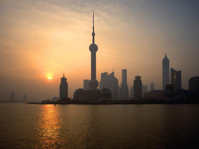 Atardecer en Shanghai, China - Paisajes de Ciudades