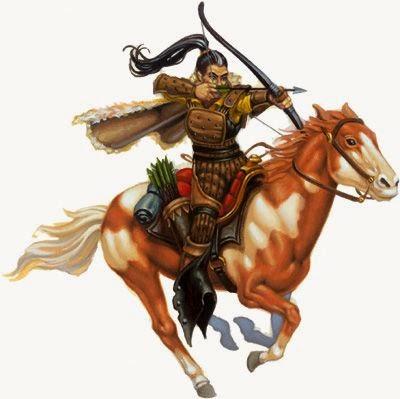 Chuluun Riding+archer+mongol+style