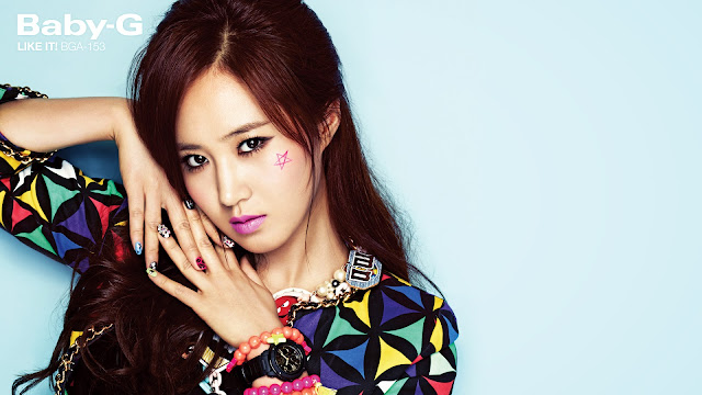 "[Wallpaper] SNSD Yuri Casio ""Baby-G"""