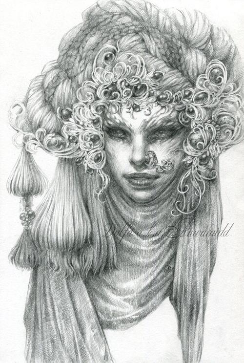17-Gray-Silk-Olga-Anwaraidd-Drawings-Fantasy-Portraits-Imaginary-Characters-www-designstack-co
