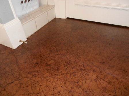 paper concrete floors decoupage flooring