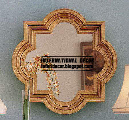 use classic mirror frames for wall accessories Classic mirror frames golden for wall decorating
