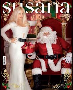 Susana Gimenez con vestido blanco by Brezza. Tapa La revista de Susana. Diciembre 2014