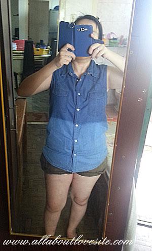 mint maong top