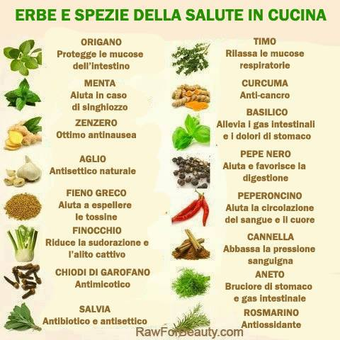 Sapereconsapore erbe e spezie della salute in cucina - Le spezie in cucina ...