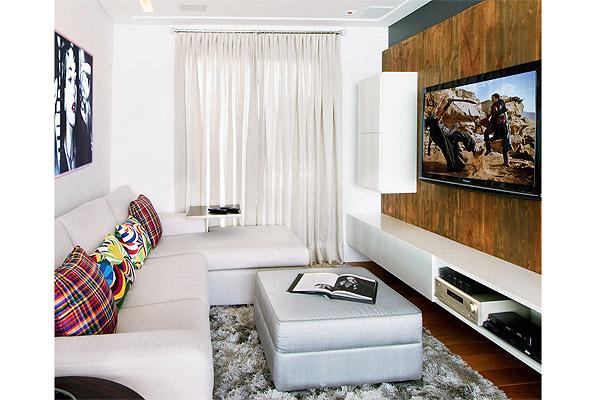 Sala pequena com decora o atual jeito de casa for Salas modernas pequenas para apartamentos