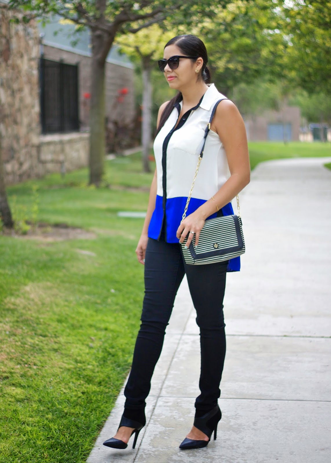 colorblocking 2014, black super skinny jeans, black cutout booties