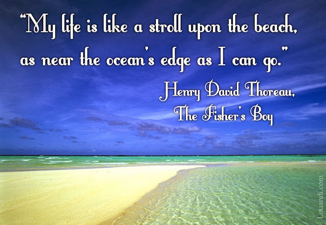 beach, ocean, life, risk, Henry David Thoreau, The Fisher's Boy