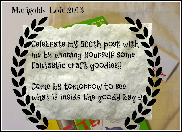 Giveaway blog craft goody bag