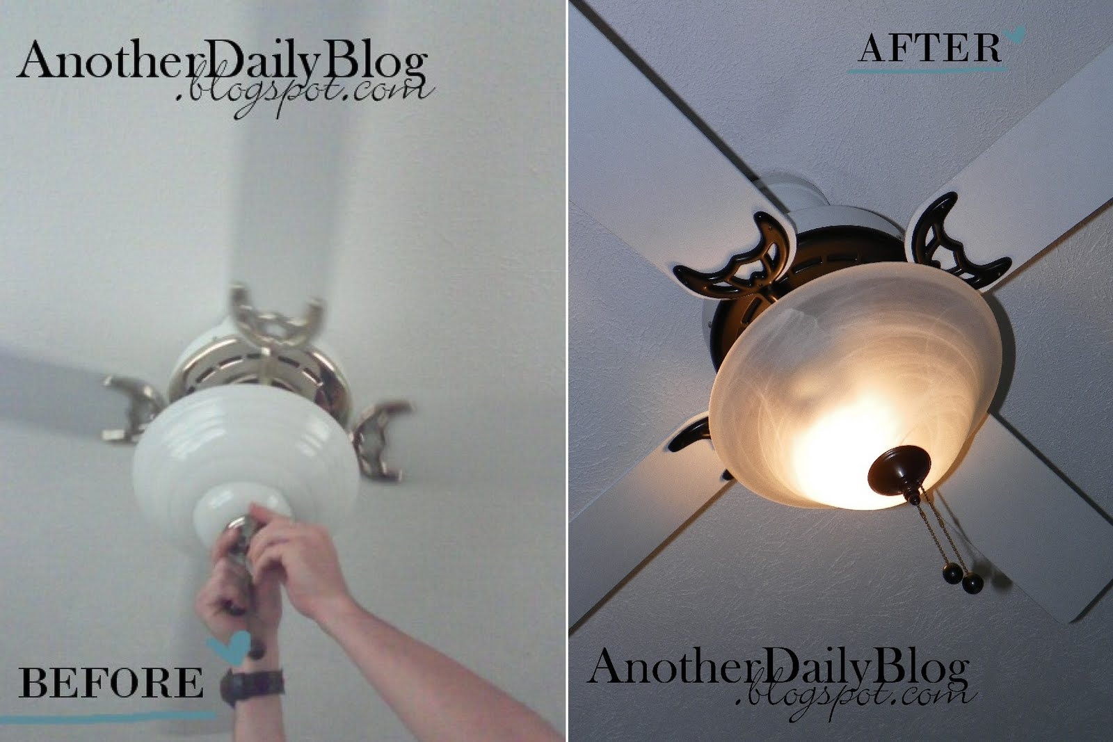 Another daily blog krylon oil rubbed bronze ceiling fan make over sunday may 8 2011 mozeypictures Image collections