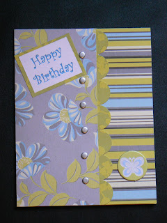 Silver snap birthday card