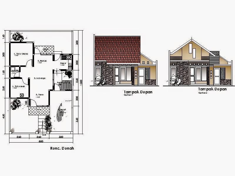 Desain Rumah Minimalis 1 Lantai Beserta Denahnya