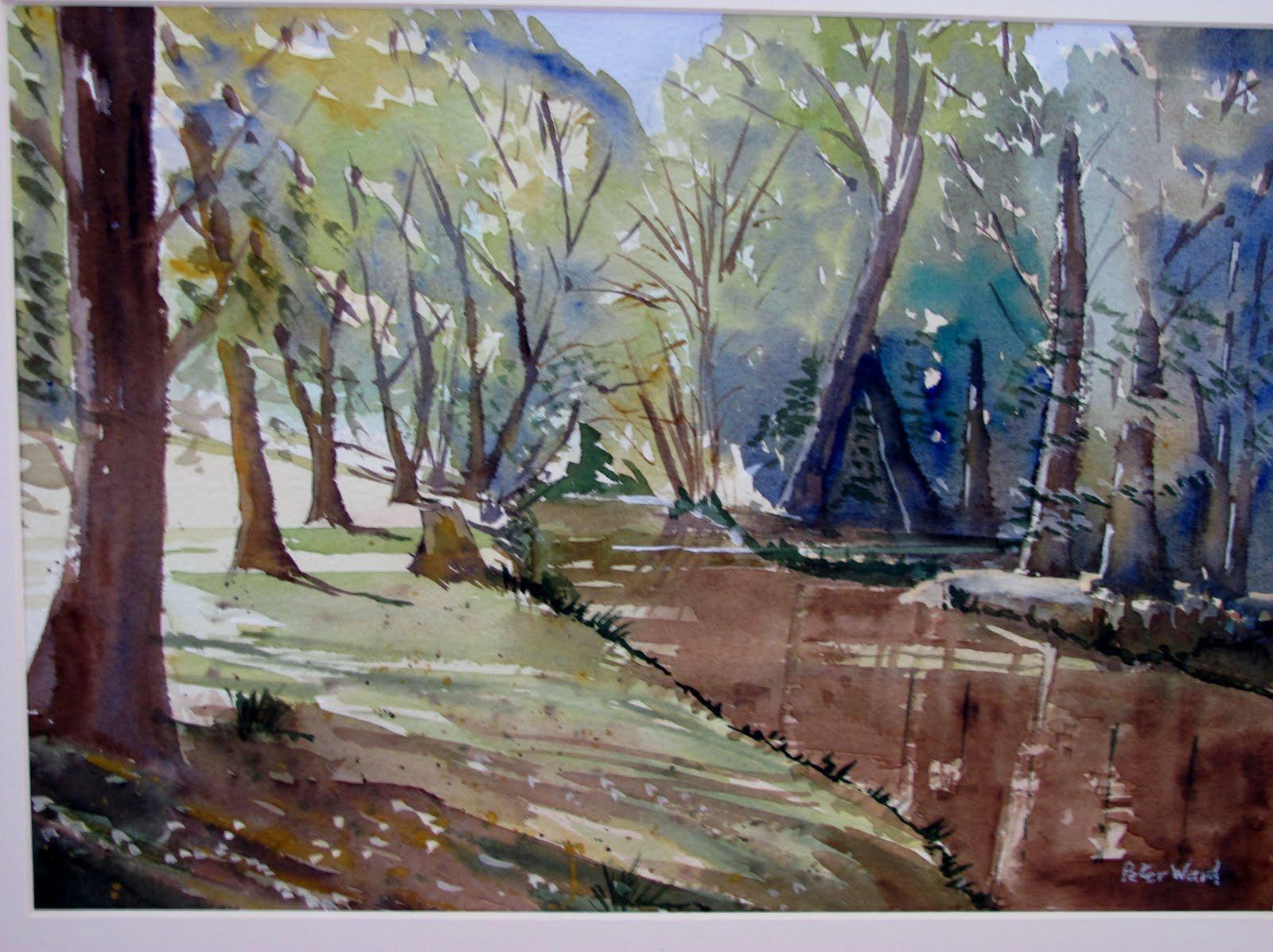 Watercolor artists websites - Keynsham Park 16 X 12 Bockingford 140lb Not