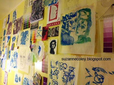 Wall of ideas by Suzanne Coley