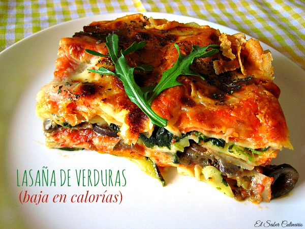 Verduras Light Lasaña de Verduras Light