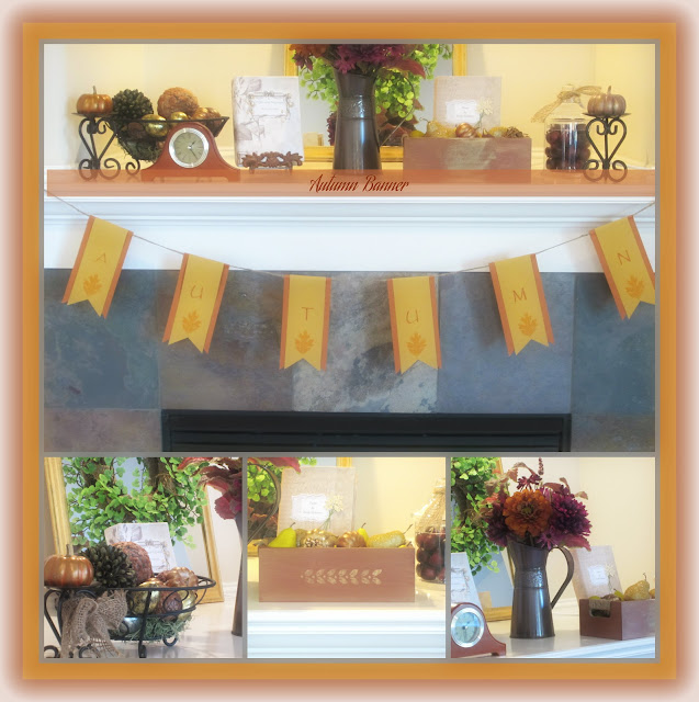 colblmbanner Fall mantel decorating ideas {Features}