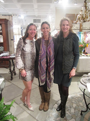 Three women at the Christian Mosso Associates showroom