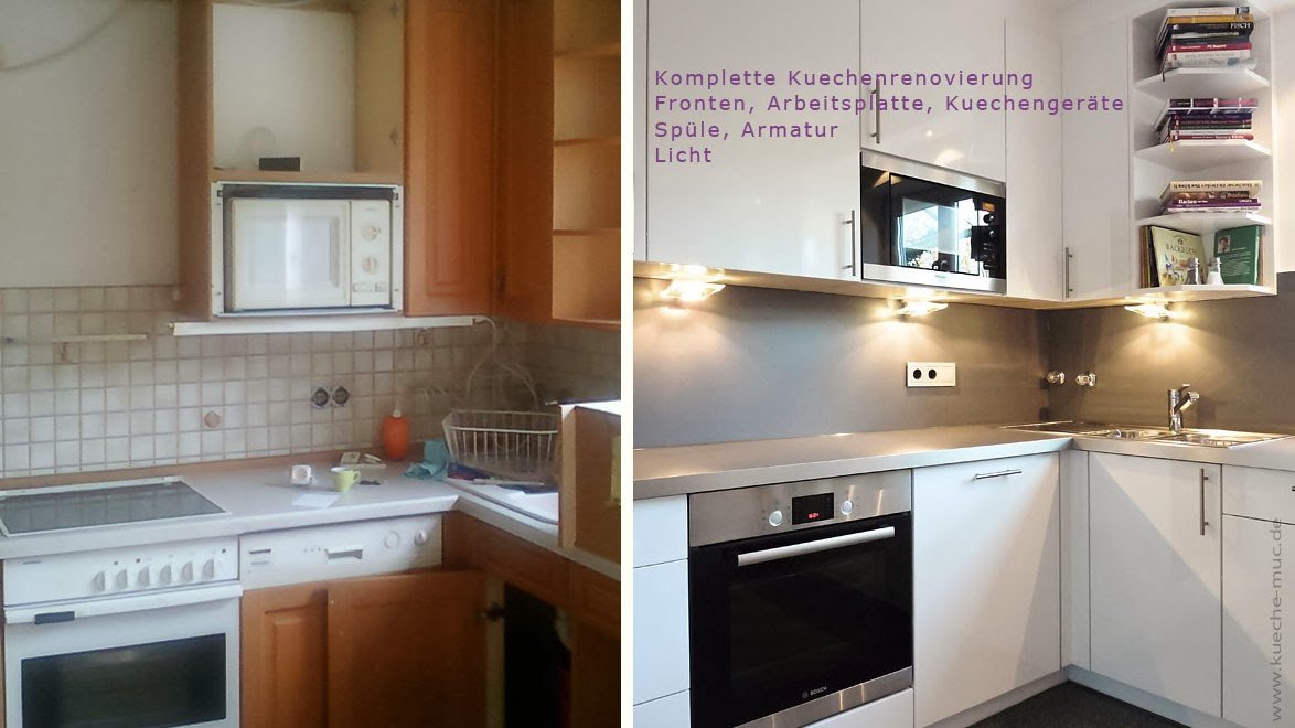 eine alte Küche wird modern