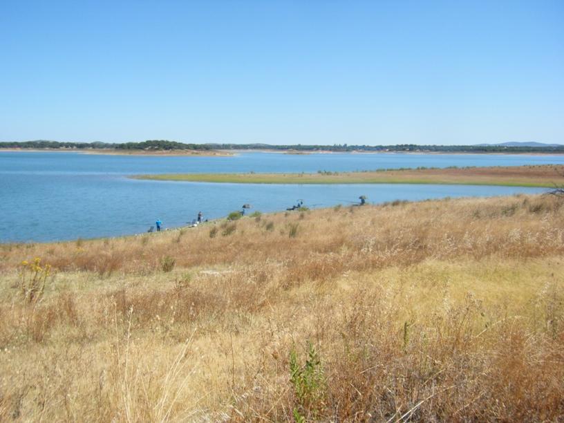 Zona de pesca na Barragem de Odivelas