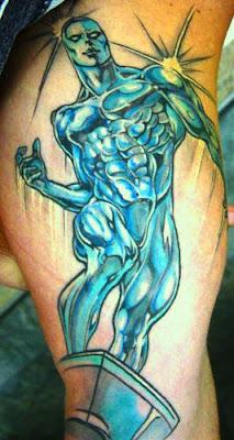 Silver Surfer Surfista Prateado Tattoo