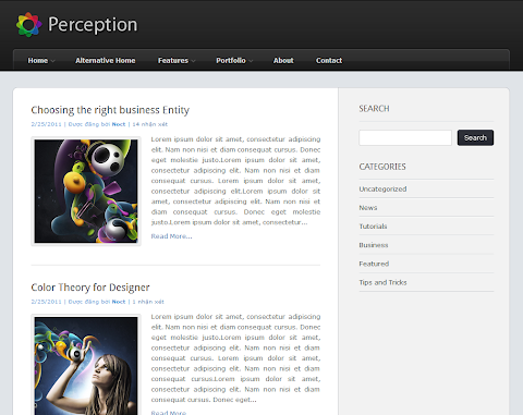 Perception Blogger Theme