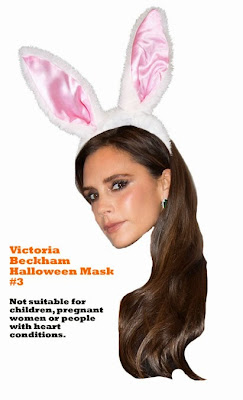 Victoria Beckham halloween mask costume funny
