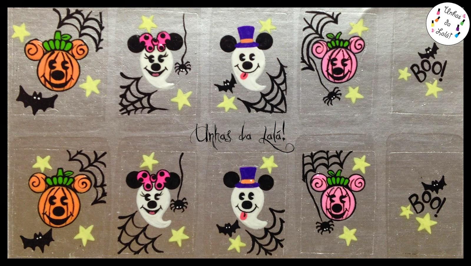 Armarios Fernando Mooca ~ Unhas da Lalá Adesivo Halloween Mickey e Minnie