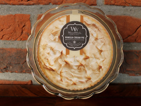 WINACTIE + WoodWick Vanilla Cream Pie Candle