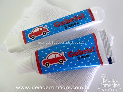 Kit higiene bucal - lembrancinha 3 anos