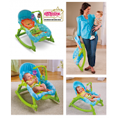 New Fisher-Price Newborn-to-Toddler Portable Rocker Green,Free Postage!!!RM230