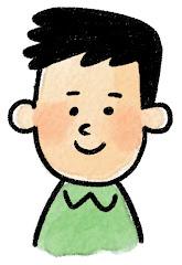 男性の表情のイラスト(通常)