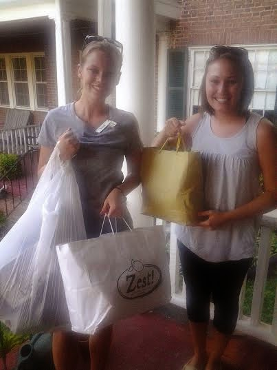 Volunteers pick-up donated goods collected at one of CAOT Christian book tour stops!