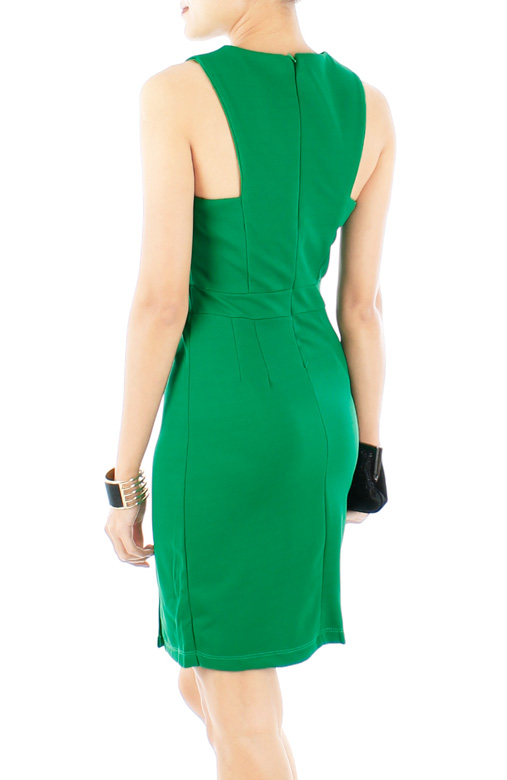 Green ASOS-inspired Pencil Dress with Double Split