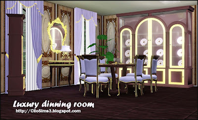My sims 3 blog luxury dining room set by clio for Sims 3 dining room ideas